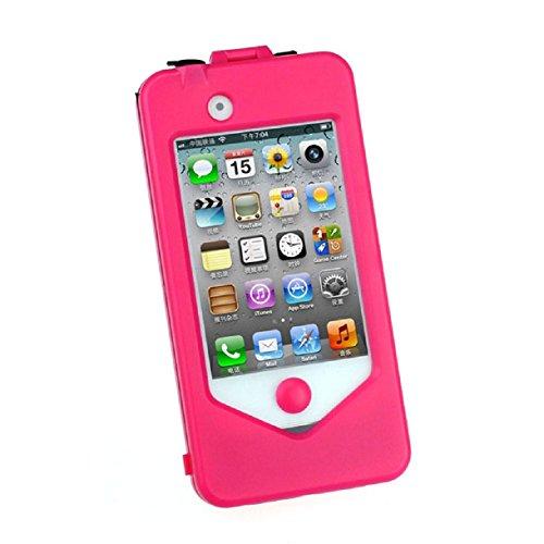 Sannysis(Tm) 1Pc Motorcycle Waterproof Bike Handle Bar Mount Case For Iphone4 4S (Pink)