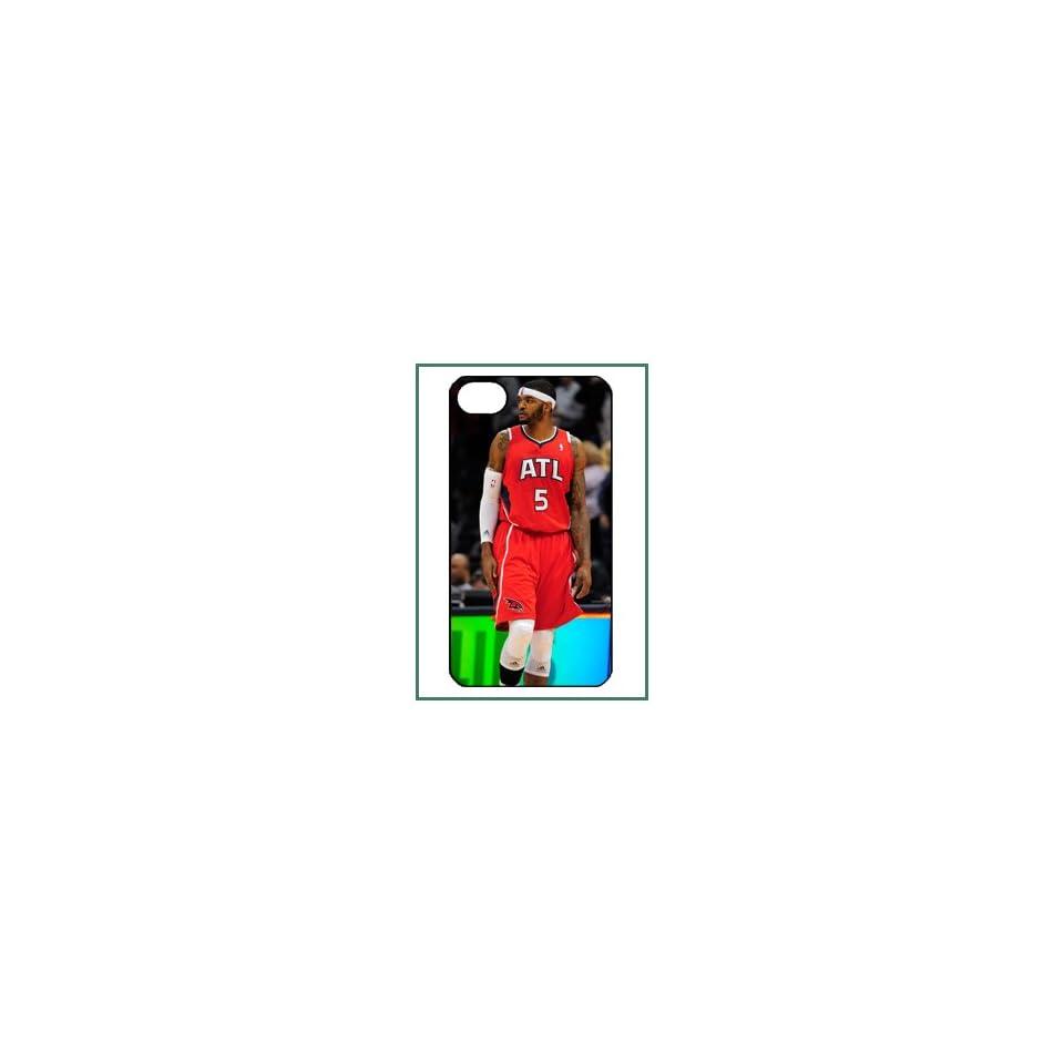 Josh J Smith Atlanta Hawks NBA Star Player iPhone 4 iPhone4 Black Designer Hard Case Cover Protector Bumper