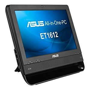 Asus ET1612IUTS-B008M 15.6-inch All-in-One Desktop PC (Intel Celeron 847 1.1GHz Processor, 320GB HDD, 2GB DDR3, Touch Screen, USB 3.0, Wi-Fi, HDMI, Webcam, 3-in-1 Card Reader, No Operating System)