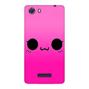 Special Pink Smile Face Back Case Cover for Micromax Unite 3