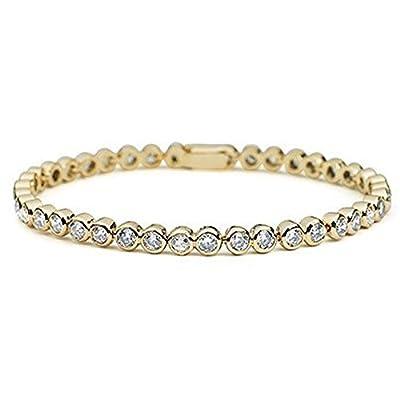 Bracelet with Swarovski Diamond Crystals in 18ct Gold Finish
