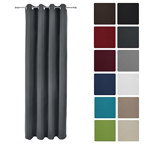 Beautissu® Blackout-Vorhang Amelie mit Ösen - 140x245 cm...