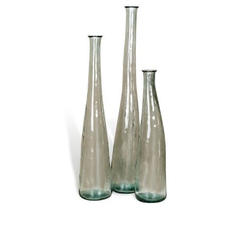 Large glass floor vases ares clear recycled glass tall Tall floor vases