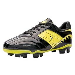 Larcia Soccer Shoe yellow and black (Little Kid/ Big Kid) (1.5)