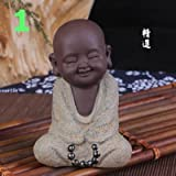 1PC Buddha monk Tea creative decorations Home gift Desktop decoration (1)
