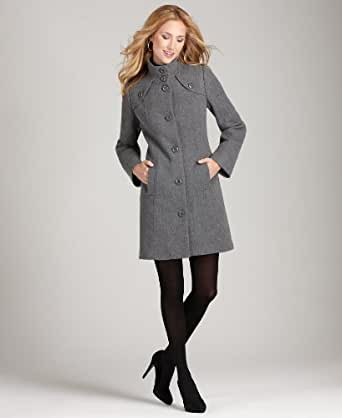 Style & Co Wool Blend Ash Grey Heather Winter Coat (Large) at Amazon