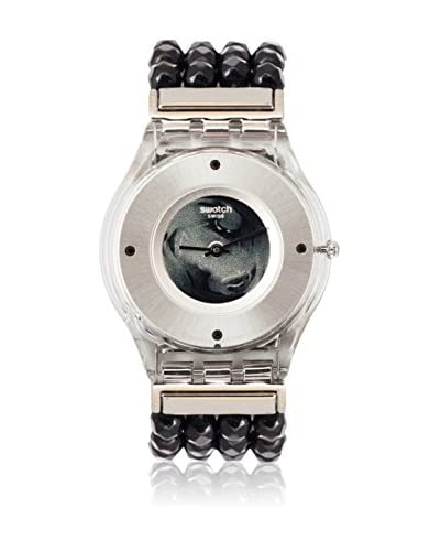Swatch Reloj de cuarzo Woman BE BLACK SFZ116B 34 mm