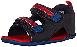 Carter\'s Every Step Wilson Stage 2 Boys Sandal (Infant/Toddler), Navy/Blue/Red, 3 M US Infant