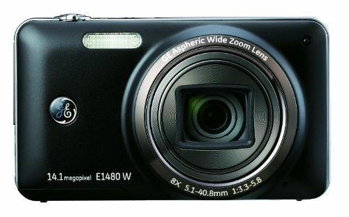 GE E1480W 14MP Digital Camera with 8X Optical Zoom and 3.0-Inch LCD with Auto Brightness (Black)