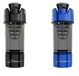Cyclone Cup Shaker Bottle 20oz - Set of 2 - Black and Blue by Cyclone Cup