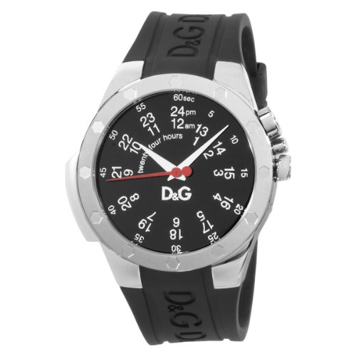 Dolce & Gabbana Men's Jack DW0566 Rubber Quartz Watch with Black Dial