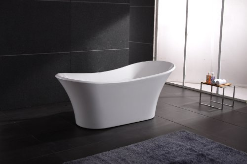 Buy Bargain AKDY Bathroom White Color FreeStand Acrylic Bathtub AZ-F274