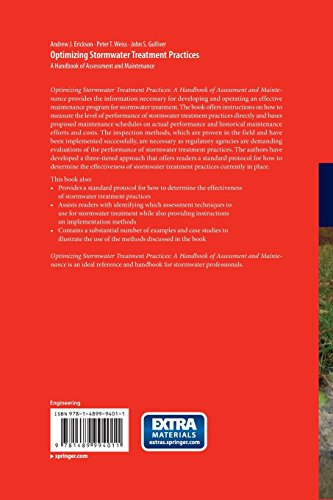 Optimizing Stormwater Treatment Practices: A Handbook of Assessment and Maintenance