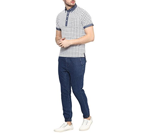 Hypernation-White-Color-Printed-Cotton-Polo-T-shirt-For-Men
