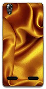 The Racoon Grip Gold Silk texture hard plastic printed back case / cover for Lenovo A6000