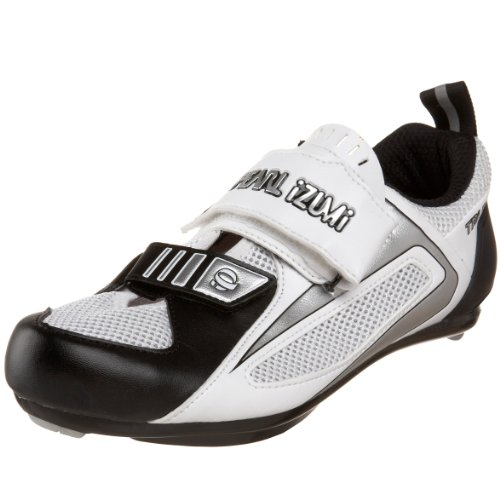 Pearl iZUMi Men's TRI Fly III  Cycling Shoe,White/Black,40 D EU / US Men's 7 M