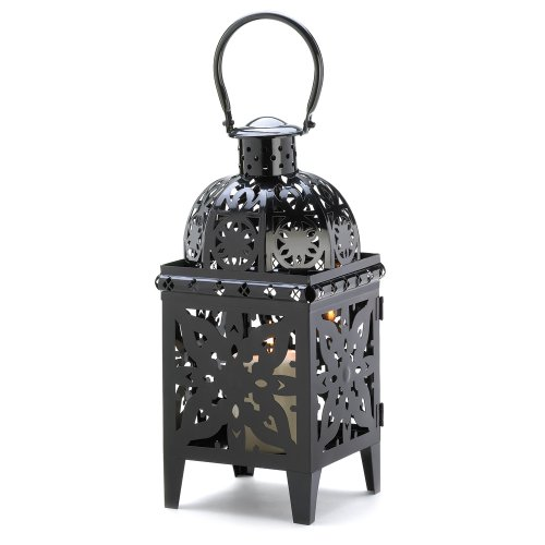 Gifts & Decor Black Medallion Candle Holder Hanging Lantern Decor