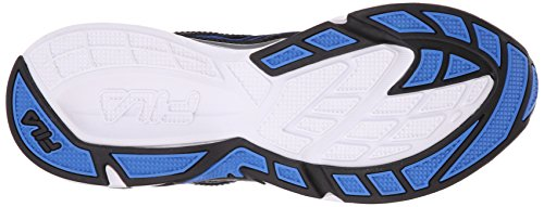 Fila Men's Inspell 3-M Running Shoe, Black/Dark Silver/Prince Blue, 9.5 M US