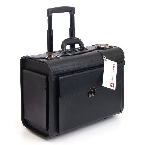Alpine Swiss Rolling Briefcase on Wheels Good