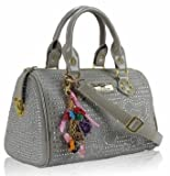 Sac Epaule Gris Diamante Clouté