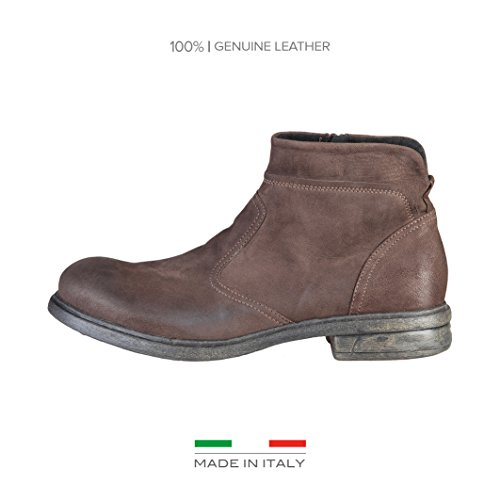 Made in ItaliaShoes - Stivaletti Uomo , marrone (Marrone scuro ), 41
