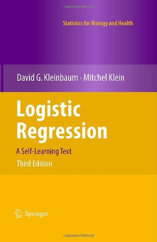 Logistic Regression: A Self-Learning Text (Statistics for...