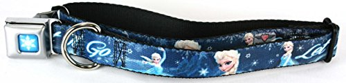 Buckle Down SNOW QUEEN in FROZEN dog collar Wide Large 1 1/2 X 18-32 inches WDY152-WL