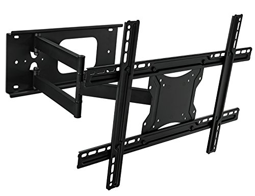 Mount-It! MI-345 Swivel Full Motion Articulating Tilting Low-Profile TV Wall Mount Corner Bracket for 32 - 65 inch Screen LCD LED Plasma 4K 3D Flat Panel Screen TV (VESA Standard up to 600x400mm), 100 lb Weight Capacity, Black (65 Inch Bracket compare prices)