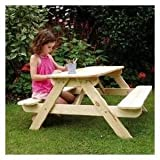 'PANDA' Wooden Picnic Table & Bench Set for Children