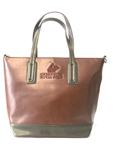 GREENWICH ROYAL POLO - BORSA DONNA IN SAFFIANO COL.BORDEAUX/MARRONE - art.PG16W-136-02 D