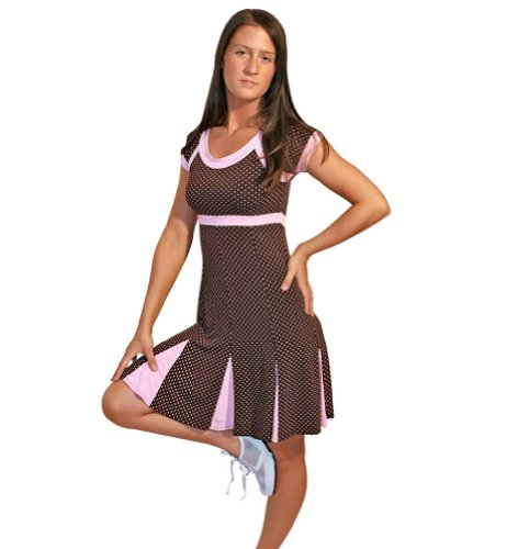 Brown and Pink Cheerleader Dress - CLEARANCE