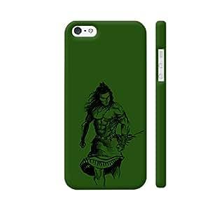 Colorpur Mahadev In Green Designer Mobile Phone Case Back Cover For Apple iPhone 5 / 5s | Artist: desiGuy