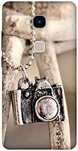 The Racoon Lean locket camera hard plastic printed back case / cover for Huawei Honor 5X