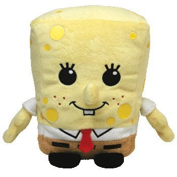 Ty Pluffies Beanie Spongebob Squarepants Pluffie New for 2011 - 1