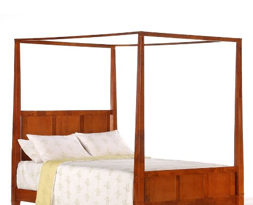 Night & Day PCH-LAU-CH / PCR-LAU-CH / PCP-LAU-CH Spices Bedroom Laurel Canopy Bed in Cherry