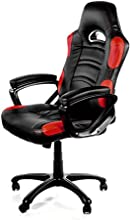 Arozzi Enzo Series Gaming Racing Style Swivel Chair, Black/Red