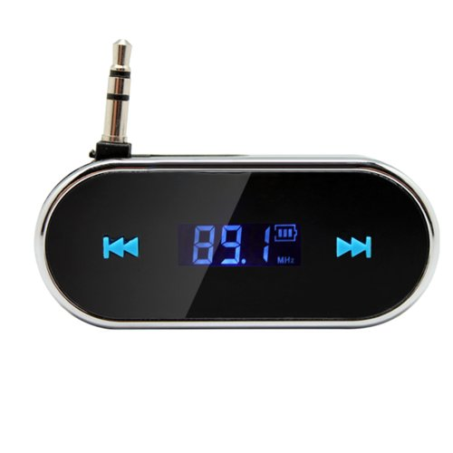 3.5Mm Black Car Wireless Fm Transmitter For Iphone 5S 5C 4S Ipod Samsung Galaxy S4 Mp3
