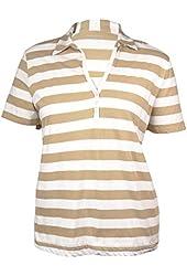 Liz Claiborne Women's Essentials Striped Casual Polo Style Blouse