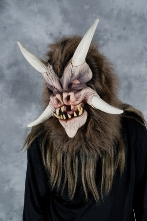 Deamonic Beast w/ Moving Mouth Action Adult Halloween Mask