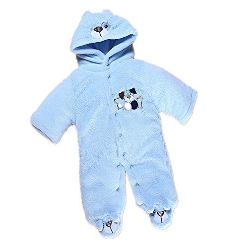 FTSUCQ Unisex-baby Infant Bodysuit Cartoon Fleeced Winter Rompers,Blue L (Mustard Pie 12 Months compare prices)
