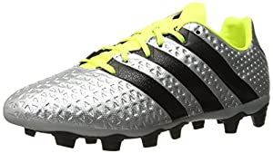 adidas Performance Men's Ace 16.4 FXG Soccer Shoe, Silver Metallic/Black/Electricity, 10 M US