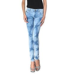 Zedon Light Blue Washed Jeans For Women