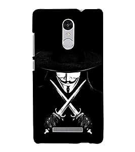 Devil with Sword and Hat 3D Hard Polycarbonate Designer Back Case Cover for Xiaomi Redmi Note 3 :: Xiaomi Redmi Note 3 (3rd Gen)