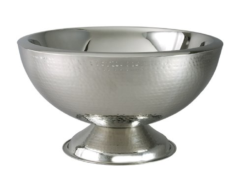 Elegance Hammered 3-Gallon Stainless Steel Doublewall Punch Bowl Reviews