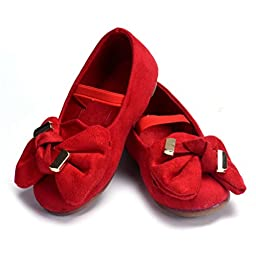 Voberry® Baby First Walker/toddler Ladybugs Mary Jane Suede Shoes (6~12 Month, Red)