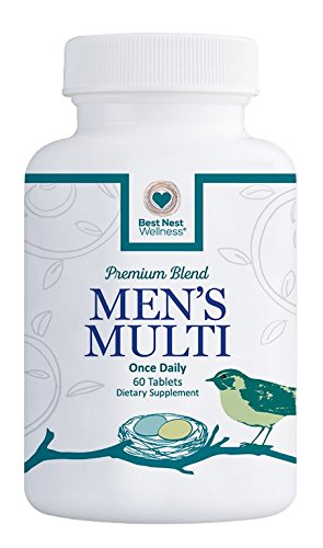 Best-Nest-Mens-Multi-Vitamins-Methylfolate-Methylcobalamin-B12-Whole-Food-Multivitamins-Probiotics-100-Natural-Organic-Blend-Once-Daily-Multivitamin-60-Tablets