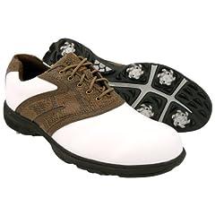 Buy New Mens Etonic Lite Tech M4684 Golf Shoes White Brown Size 9 M - RETAIL $79.99 by Etonic