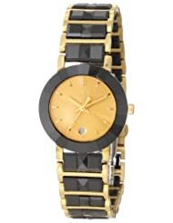 Swistar Women's 44204-L Swiss Quartz Scratch Resistant Ceramic and Stainless Steel Dress Watch