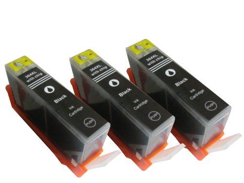 Druckerpatrone mit Chip 3 x Schwarz HP364BK XL HP Deskjet 3070 3070A 3520 / HP officejet 4620 4622 Serie / HP PhotoSmart 5510, 5515-Serie 5520-Serie 6510-Serie 6520-Serie 7510-Serie 7520-Serie / HP PhotoSmart D5460 B8550 B010-Serie B109-Serie B110-Serie B210-Serie