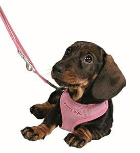Trixie 15567 Puppy Harness, 23-34 cm L: 2 m, Pink